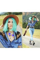 DressLink jeans - Prototip Studio sunglasses - Elisha Francis accessories