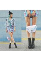 MAUDE STUDIO bag - AmiClubWear boots - iron fist dress - 27JEWELRY ring
