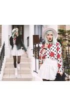 YRU boots - style moi shirt - Happy Monday skirt - la moda accessories