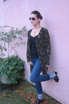vintage blazer - Old Navy shirt - Earnest Sewn jeans - Urban Outfitters shoes
