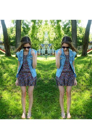 DIY vest - River Island dress - Diverse flats - allegro ring