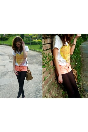 Tally Weijl shorts - Primark bag - H&M t-shirt