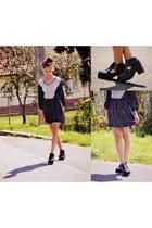 black H&M boots - gray H&M dress