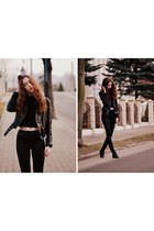 black H&M jacket - black H&M panties