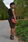 Black-leather-peplum-co-blouse-brown-leopard-ralph-lauren-dress