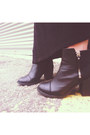 Black-h-m-boots-black-jersey-maxi-secondhand-dress