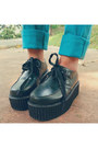 Aviator-h-m-sunglasses-black-creepers-dreamz-couture-shoes-teal-uniqlo-jeans