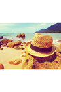 Straw-fedora-h-m-hat-forever-21-sunglasses-floral-skater-cotton-on-skirt