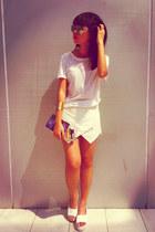 Dazzling Couture bag - ivory skort RainbowCake98 shorts