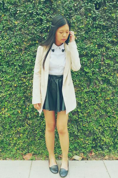 black PrettyLittleThings skirt - beige oversized Kitschen blazer