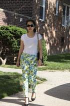 ann taylor pants - banana republic shirt - Prada purse - Tiffany & Co sunglasses