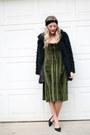 Green-velvet-zaful-dress-black-faux-fur-just-fashion-now-jacket