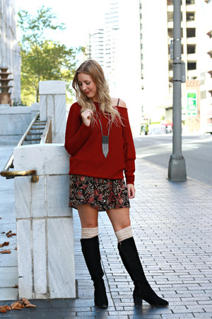 burgundy zaful sweater