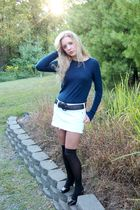 sweater - belt - socks - skirt - shoes