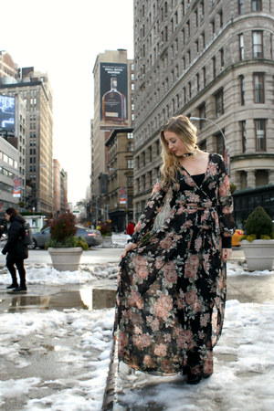 floral maxi Forever 21 dress