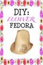 Flower-fedora-hat