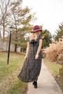 Star-print-maxi-rosegal-dress