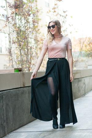 black palazzo Brittanys Beauty Box pants