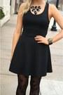 Black-textured-skater-deb-shops-dress-black-belted-coat-deb-shops-coat