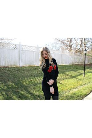 black velvet rose AmiClubWear dress