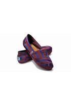 purple Toms shoes - red - purple - red - purple - red