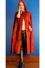 Red-coat-silver-helmut-lang-pants-blue-repetto-shoes