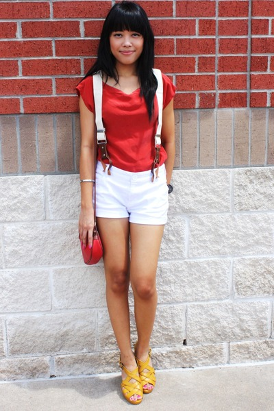blouse - shoes - dads suspenders accessories