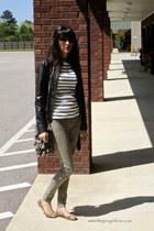 Express jacket - Forever21 t-shirt - Charlotte Russe pants - Prada glasses