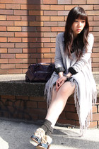 checked Random from London skirt - Jeffrey Campbell shoes
