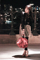 random from Hong Kong jacket - Forever21 dress - glitters Jeffrey Campbell heels