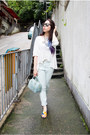 Light-blue-h-m-jeans-sky-blue-candy-cookie-furla-bag-white-spiral-girl-top