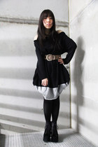 asymmetrical KITTERICK dress - lita fur Jeffrey Campbell boots