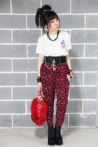 random from japan top - Jeffrey Campbell boots - leopard print H&M pants