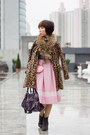 Dark-gray-glitter-topshop-boots-light-brown-leopard-print-from-japan-coat