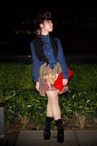 Christian Louboutin boots - House of Holland shirt - Miu Miu bag