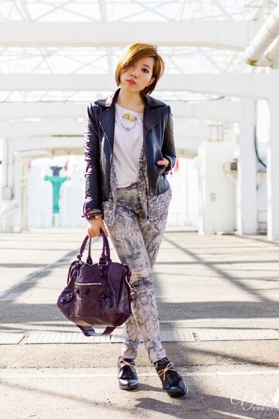 black Zimmermann shoes - silver Zara jeans