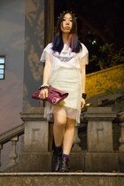Daily Dolly t-shirt - balenciaga bag - H&M skirt - Daily Dolly accessories