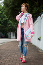 Bubble-gum-blind-by-jw-coat-blue-american-eagle-jeans
