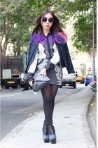 Jeffrey Campbell boots - lace Melani shirt - asos bag