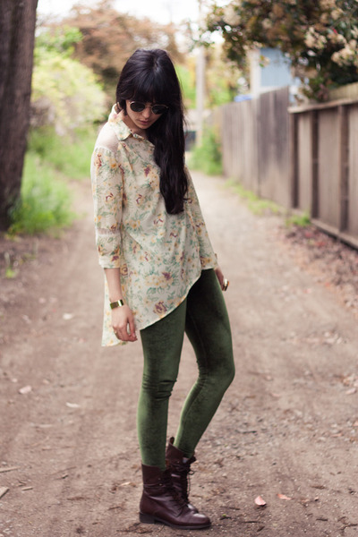 Dark Brown Madewell Boots Olive Green American Apparel Leggings | u0026quot;True Romanceu0026quot; by ...