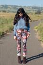 Floral-print-asos-jeans-american-apparel-sweater