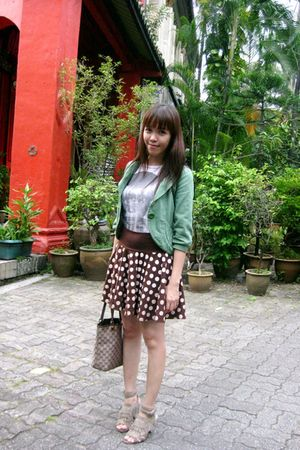 Zara shirt - Kookai skirt - Zara shoes