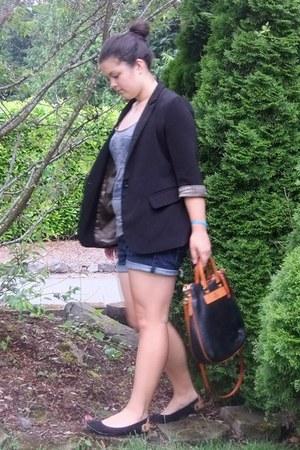 black Forever 21 blazer - dark brown Dooney & Bourke bag - navy American Eagle s
