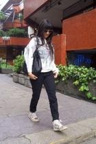 Zara pants - sweater - nike shoes