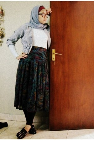 yellowline jacket - yellowline tights - bought online skirt - bought online wedg