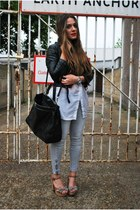 Zara jeans - H&M jacket - H&M shirt - new look heels