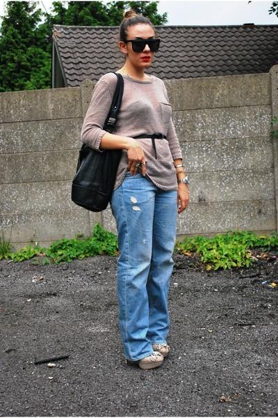 H&M jeans - Mango sweater - Zara heels