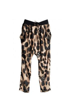 gray print loose style pants