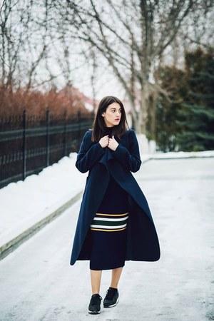 dresslily dress - Missguided coat - Zara sneakers