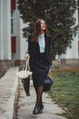 Sheinside-blazer-zara-shirt-alex-ciobanu-skirt-boohoo-loafers
